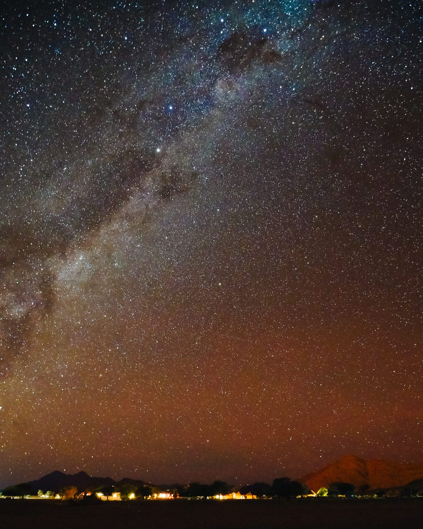 what to pack for camping in the desert in namibia milky way