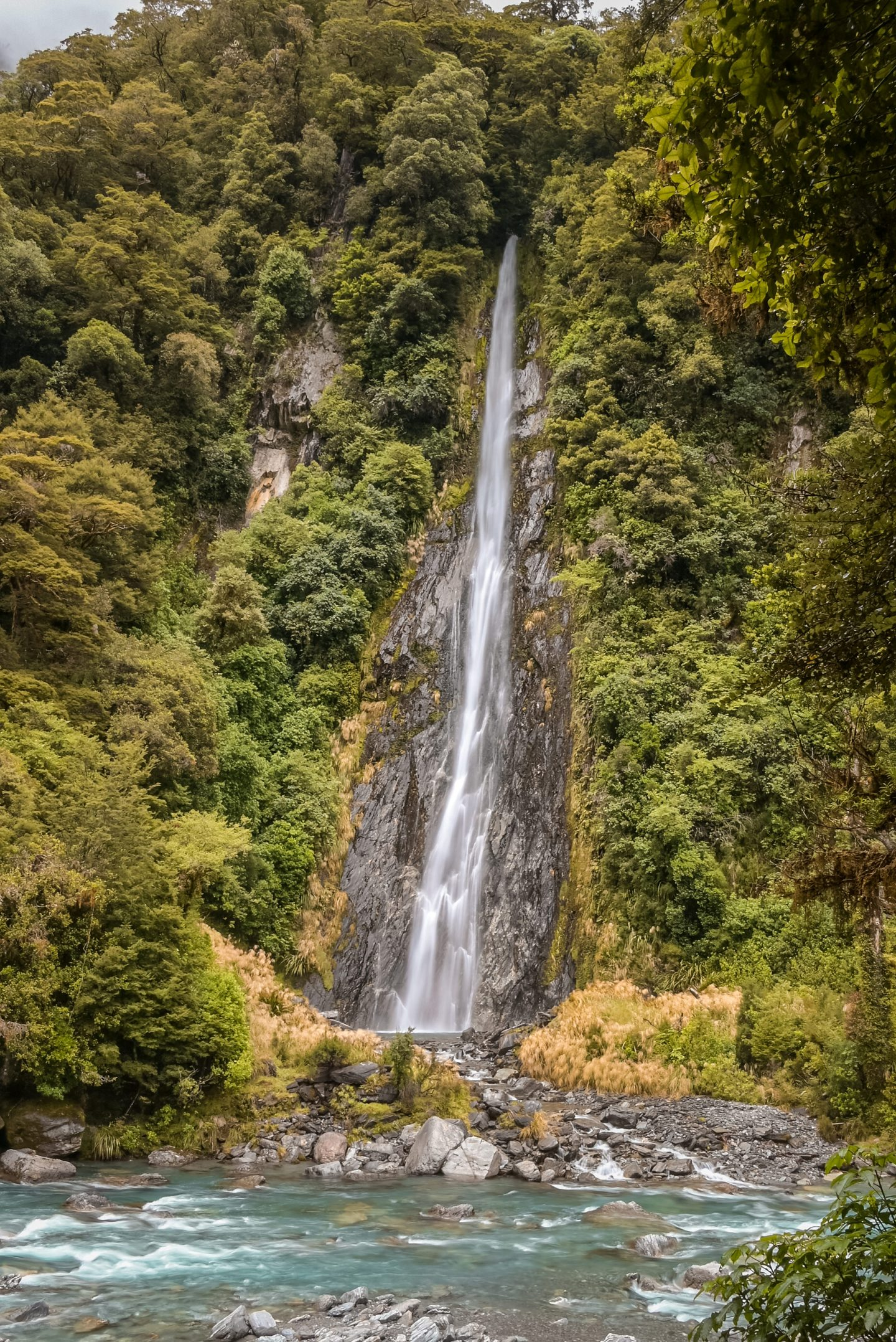 Thunder Creek Falls New Zealand