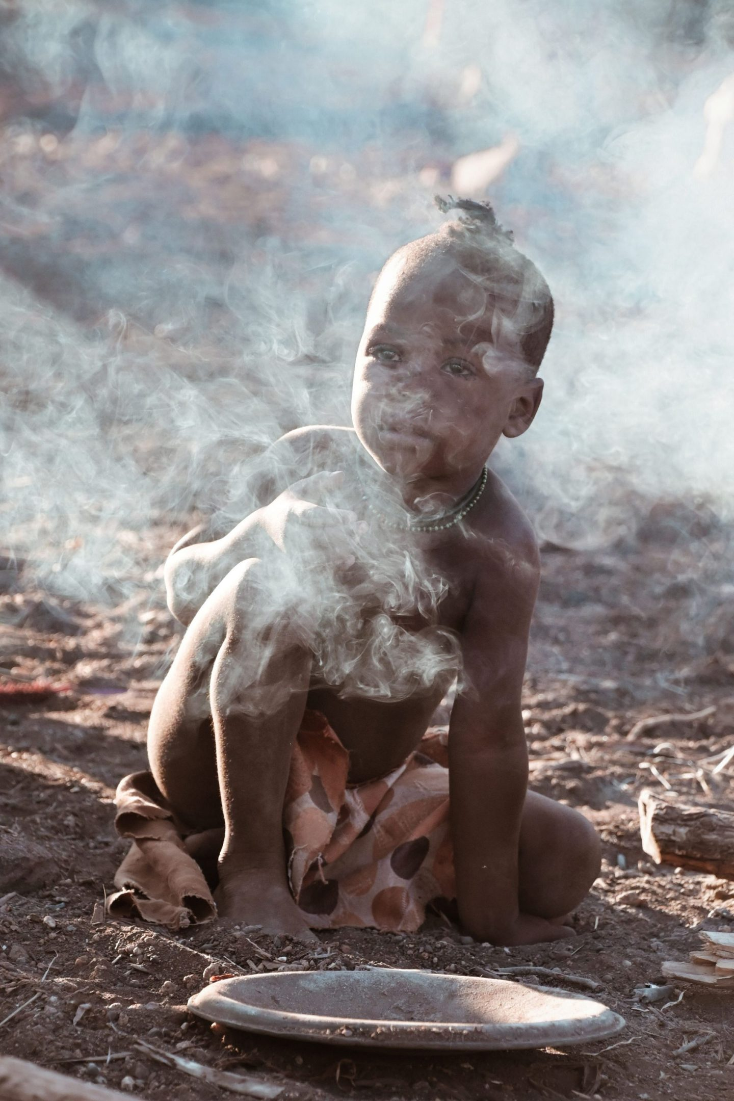 Himba child in Namibia