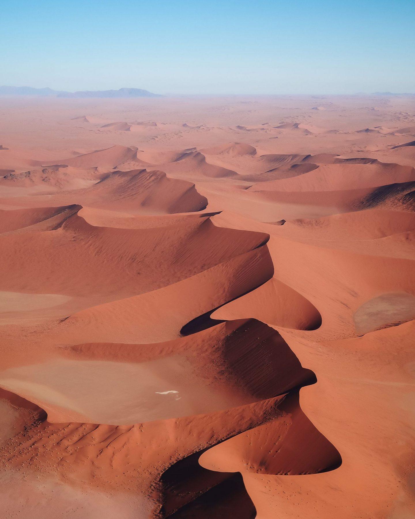 Namibia Sossusvlei Sesriem Namib Desert helicopter flight