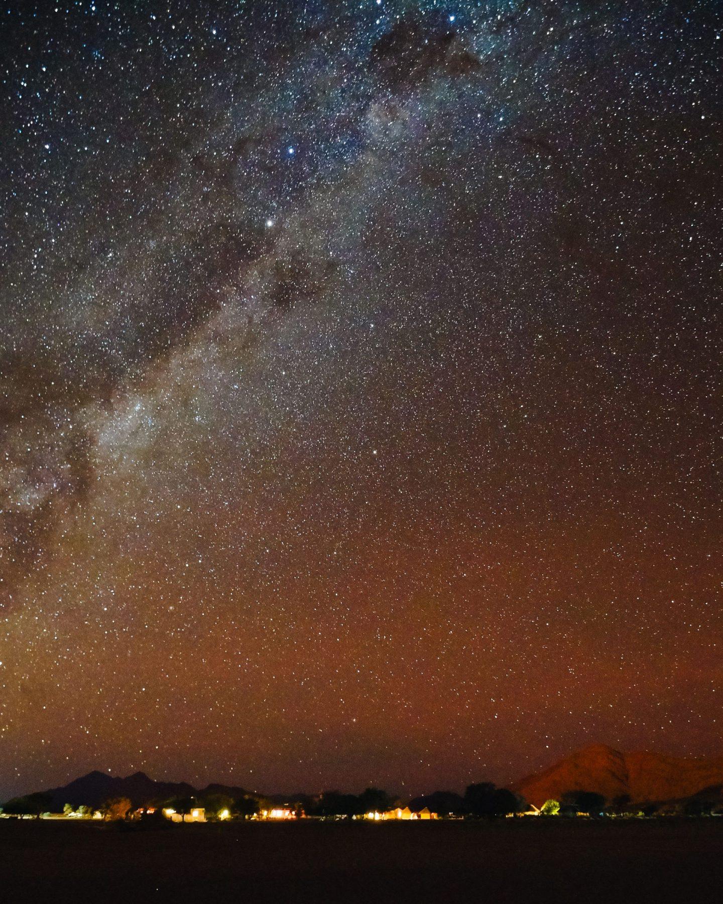 Sesriem nočna fotografija, Namibija