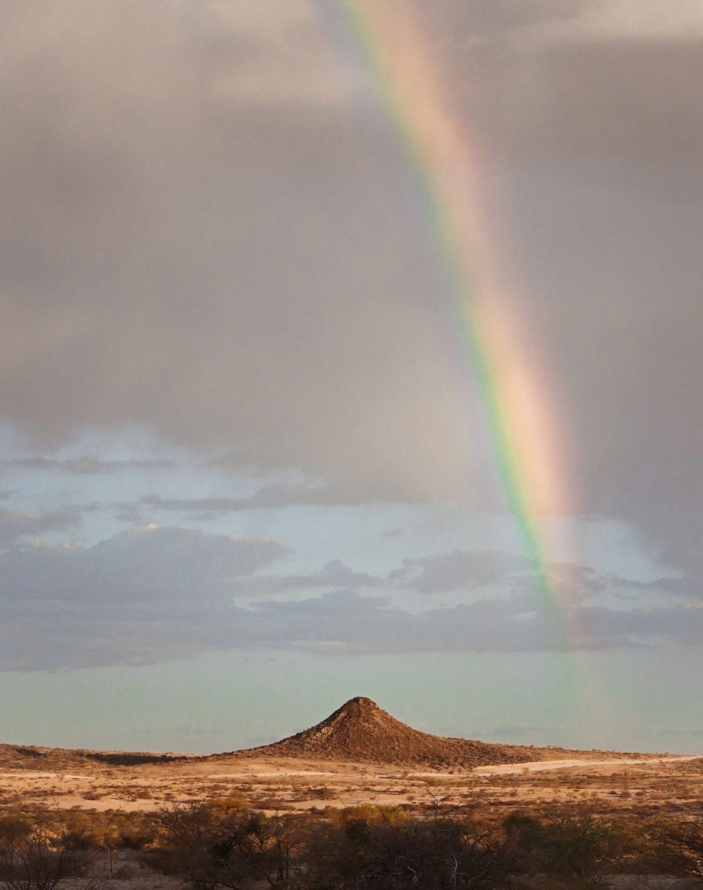 Namibia Spitzkoppe rainbow