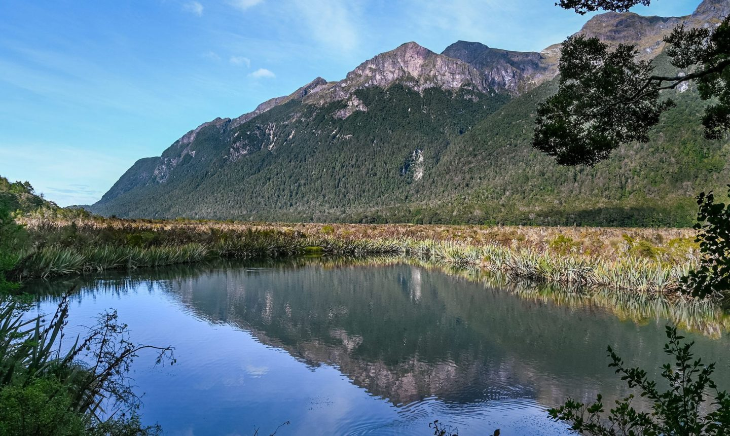 Mirror Lakes, Fiordland, New Zealand