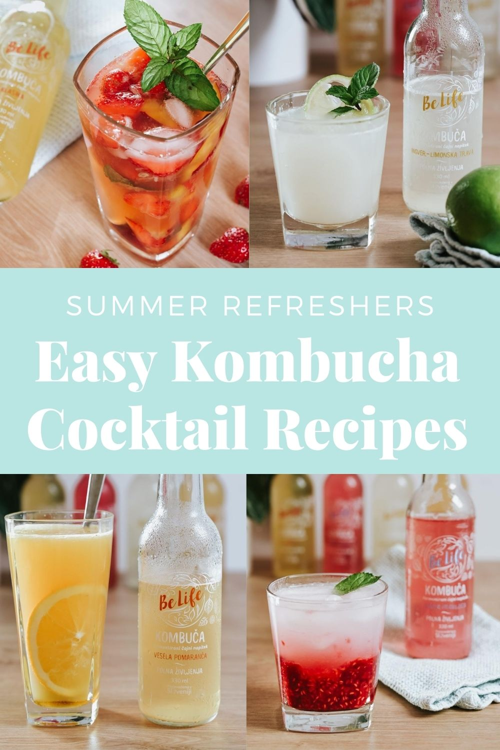 Easy Kombucha Cocktail Recipes